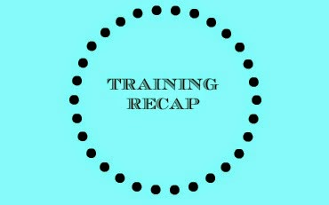 Training Recap graphic