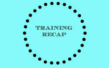Training Recap graphic